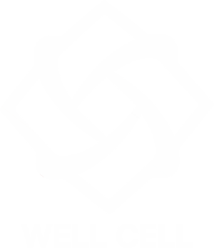 well cell logo white