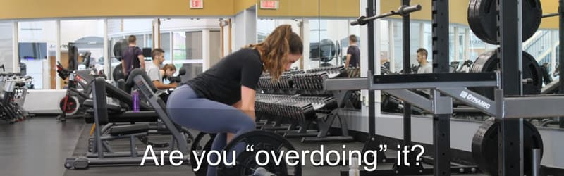 do not overdo at the gym