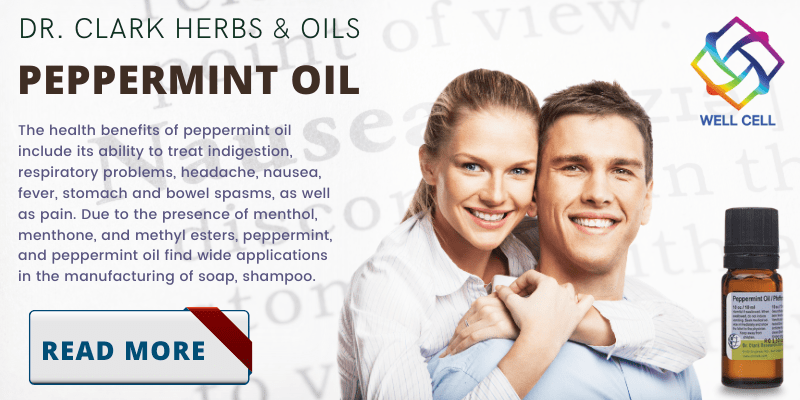 The health benefits of peppermint oil include its ability to treat indigestion, respiratory problems, headache, nausea, fever, stomach and bowel spasms, as well as pain.