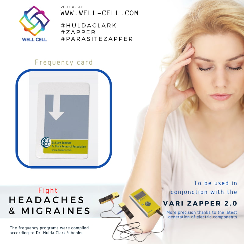 fight headache with Dr. Hulda Clark Zapper Frequency Cards